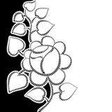 Fundo retro com rosas Imagem de Stock