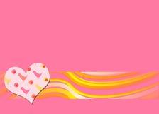 Fundo retro cor-de-rosa ilustração do vetor