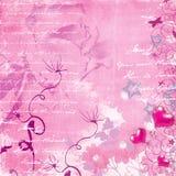 Fundo retro cor-de-rosa ilustração royalty free