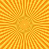 Fundo retro da banda desenhada Raios amarelos do sol do vintage estilo do pop art Foto de Stock