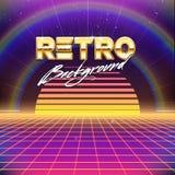 fundo retro da ficção científica do futurismo 80s ilustração royalty free