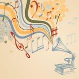 Fundo retro da música Imagem de Stock Royalty Free