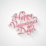 Fundo retro da rotulação do vintage do dia de Valentim Foto de Stock
