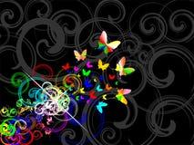 Fundo retro de Colorfull Imagens de Stock Royalty Free