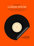 Fundo retro do cartaz do vintage da música Imagens de Stock