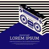 Fundo retro do cartaz do vintage da música Foto de Stock