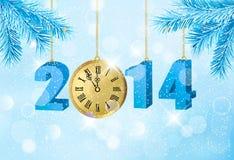 Fundo retro do feriado com sagacidade azul da fita do presente Foto de Stock Royalty Free