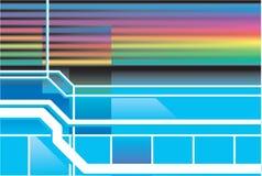 Fundo retro do néon 80s Fotografia de Stock Royalty Free