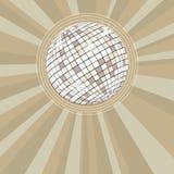 Fundo retro do partido com esfera do disco Imagens de Stock