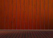 Fundo retro do vintage clássico com o assoalho de madeira da textura do teste padrão Imagem de Stock