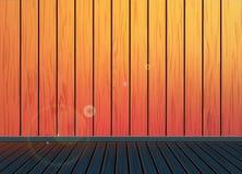 Fundo retro do vintage clássico com o assoalho de madeira da textura do teste padrão Imagens de Stock