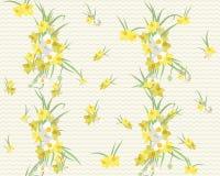 Fundo retro do vintage do narciso floral Fotos de Stock Royalty Free