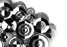 Fundo retro dos círculos Foto de Stock