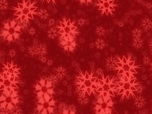 Fundo retro dos flocos de neve Imagens de Stock Royalty Free