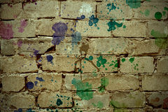 Fundo retro dos tijolos Fotografia de Stock Royalty Free