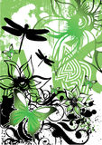 Fundo retro floral ilustração do vetor