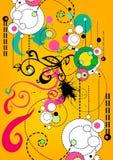 Fundo retro floral ilustração stock