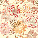 Fundo retro floral sem emenda do vetor Foto de Stock Royalty Free