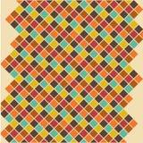 Fundo retro geométrico abstrato editável Ilustração do Vetor