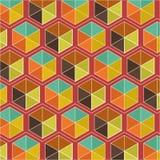 Fundo retro geométrico abstrato editável Ilustração Royalty Free