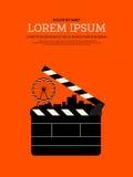 Fundo retro moderno do cartaz do vintage do filme e do filme Fotos de Stock Royalty Free