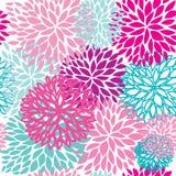 Fundo retro sem emenda com flores bonitos ilustração stock