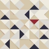 Fundo retro triângulo e do teste padrão abstratos do quadrado ilustração stock