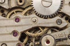 Fundo retro velho do maquinismo de relojoaria fotografia de stock royalty free