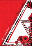 Fundo retro vermelho Foto de Stock