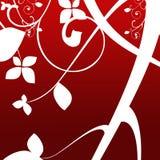 Fundo retro vermelho da arte (todos os elementos feitos por mim) Fotos de Stock