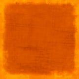 Fundo riscado laranja do vintage Fotografia de Stock Royalty Free
