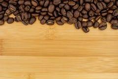 Fundo Roasted dos feijões de café Foto de Stock