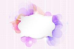 Fundo romântico abstrato da flor com quadro retro de papel Fotografia de Stock