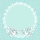 Fundo romântico com as pombas para cartões de casamento,  ilustração do vetor
