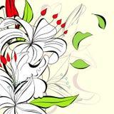 Fundo romântico com flores ilustração royalty free