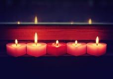 Fundo romântico da noite do dia de Valentim Imagem de Stock Royalty Free