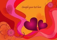 Fundo romântico do Valentim Fotos de Stock