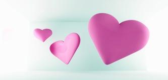 Fundo romântico dos corações Fotos de Stock Royalty Free