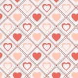 Fundo romântico dos corações pasteis sem emenda retros do teste padrão para o dia de Valentim ilustração stock