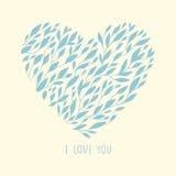 Fundo romântico na forma de um coração Imagens de Stock Royalty Free