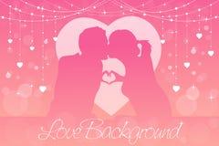 Fundo romântico ou do casamento Vetor Imagem de Stock