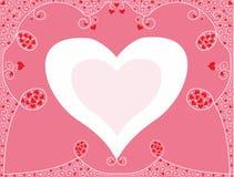 Fundo romântico para felicitações com corações ilustração stock