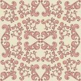 Fundo romântico sem emenda com o ornamento floral do vintage Imagens de Stock Royalty Free