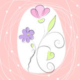 Fundo romântico bonito Imagens de Stock Royalty Free