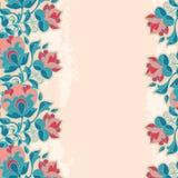 Fundo romântico de Grunge da flor Imagem de Stock Royalty Free