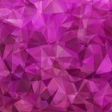 Fundo roxo abstrato dos triângulos Imagens de Stock