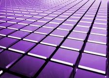 Fundo roxo abstrato lustroso dos cubos Fotografia de Stock