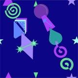 Fundo roxo azul abstrato, teste padrão sem emenda 18-42 Foto de Stock Royalty Free