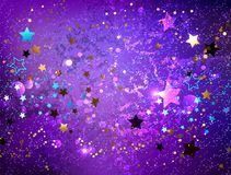 Fundo roxo com fundo abstrato das estrelas Fotografia de Stock Royalty Free