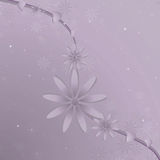 Fundo roxo da videira da flor Ilustração Royalty Free